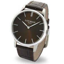 LOCMAN orologio uomo solo tempo collezione La doce vita 1960 cinturino pelle