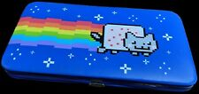 Retro New Nyan cat wallet, color: blue and rainbow