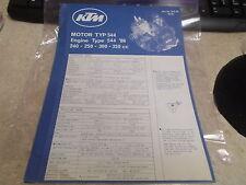 OEM KTM Engine Type Poster 1986 544 240 250 300 350cc 202-38