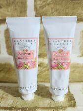 Lot Of 2 Crabtree & Evelyn Rosewater Hand Therapy 0.8 oz Metal Tube