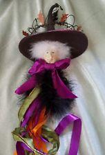 Krinkles Patience Brewster Halloween Witch Head Pick Display Piece Dept 56