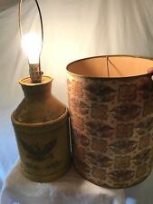 Vintage H. P. Hood Sons Metal Milk Dairy Container Table Lamp