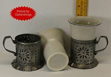Pfaltzgraff YORKTOWNE Tin and Stoneware Handled Mug Set of Two VERY OLD NICE!!