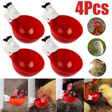 4pcs Automatic Water Cups Poultry Drinker Waterer Chicken Duck Quail Drinking Us