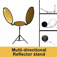 Dual Arm Reflector Holder With Light Stand Swivel Connector Photo Studio Pole