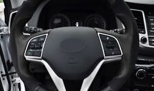 For 2016 -2018  Hyundai Tucson  ABS Chrome Steering Wheel Cover Trim 2pcs
