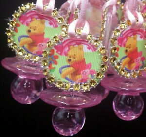 12Pcs~Baby Shower~WINNIE the Pooh and piglet Pacifier Necklaces,Game Prizes,Gift