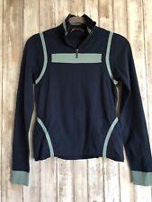 Essendi Blue Zipper Long Sleeve Pullover Sweater S M Medium * RARE!