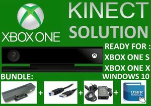 KINECT SENSOR V2 WIN 10 USB 3.0 3D SCANNING MOTION CAP XBOX ONE X  WITH ADAPTER