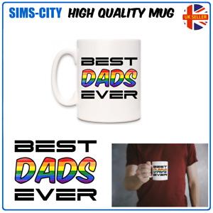 BEST DADS EVER LGBGT RAINBOW GAY PARENTS 2 DAD NOVELTY COFFEE TEA MUG CUP MG100