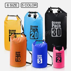 Waterproof Bag Dry Sack Fishing Camping Canoeing Outdoor Sport 2/5/10/15/20/30 L