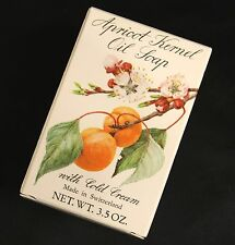 Vintage Crabtree & Evelyn Apricot Kernel Oil Soap Bar w/ Cold Cream 3.5 oz 100 g
