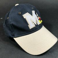 Walt Disney World Parks Adjustable Hat Cap Mickey Mouse M Michigan Blue Gray