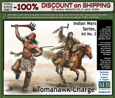 """Master Box 35192 """"Tomahawk Charge""""  Indian Wars Series Kit No. 2 Scale 1/35"""