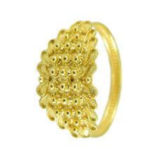 Fede Sarda anello donna oro giallo filigrana sarda a tre file pallini gioiello