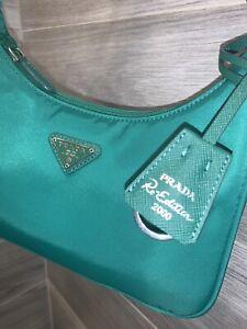Prada Re-Edition 2000 Nylon Mini Bag Green Purse SOLD OUT Everywhere