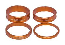 A2Z Headset Spacers 1.1/8 Steered Anodized Aluminum 3/5/8/10mm, Orange