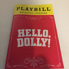 Hello Dolly Playbill Musical Betty Buckley November 2018 Chicago