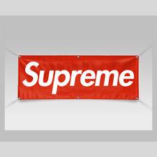 New 6ft x 2ft Supreme Logo Vinyl Banner Hemmed & Grommets Durable Free Shipping