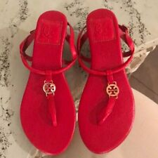 Tory Burch Demi Wedge Leather Sandal Size 7