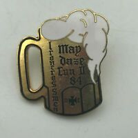 1984 Iron Cross Men Beer Stein Mug Lapel Hat Pin Screw Back Style  S1