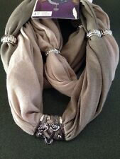 Women's Laliberi Fashion Beige Eternity Bail Neck Loop Scarf Winter Shawl NWT
