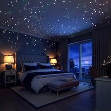 Glow-In-The-Dark Stars Wall Stickers by Liderstar - 252 Dots + 1 Moon for Sta...