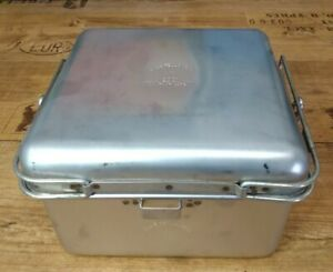 Cookset. number 12 Stainless steel Cook Pot. Camping cook set with lid.