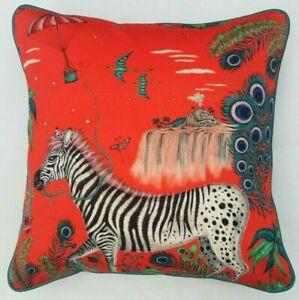 Emma J Shipley LOST WORLD RED cushion cover 41cm x 41cm