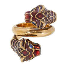 Gucci Tiger Head Ring with Enamel-Size 10