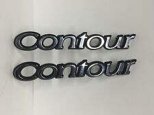 Ford CONTOUR Emblem Lot Of 2 Used Chrome Emblems