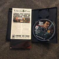 Playstation 2 (PS2) GTA Liberty City Stories w/ Manual & Map No Cover Art Used