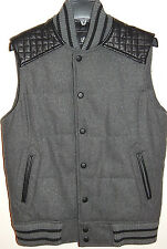ROCK & REPUBLIC MENS WOOL BLEND VEST GREY sz S NEW$99 AUTHENTIC