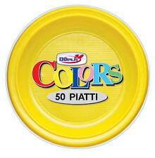 PIATTI PICCOLI FRUTTA DOPLA IN PLASTICA MONOUSO GIALLI CF.50 PZ. TINTA UNITA