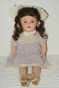 """SO PRETTY! Vintage 20"""" Unmarked Mama Composition & Cloth Doll"""