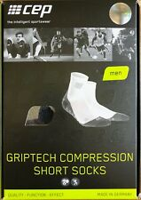 CEP Griptech Compression Short Socks White Men's Size L