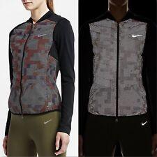 Nike Wmns AeroLoft 800 Flash Vest Gilet 689260-011 Black Reflective Size XL New