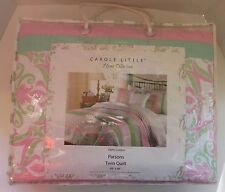 "New~Carole Little~Home Collection~Parsons Twin Quilt~100% Cotton~68""x86""~ 1+ Ship"