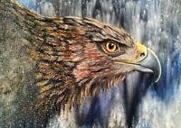 Peinture, tableau animalier, surréaliste format 50/70 cm a l`huile, sur toile