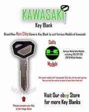 KAWASAKI Ninja ZX-6R 9R 10R 12R 14R - Key Blank Spare New