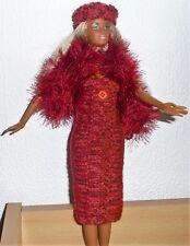 vêtements  pour Barbie robe étole bandeau fourrure  NEUF lavables et résistants