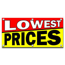 Lowest Prices - Retail Store Business Sign Banner