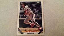 1993 Topps Baseball Card #347 Luis Sojo Angels