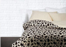 New IKEA RANSBY Soft Full/Quilt Cover - 3 Pcs Set 300TC - Beige Brown Floral
