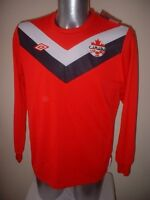 Canada Umbro Adult BNWT M L XL Shirt Jersey Football Soccer Uniform L/S Trikot