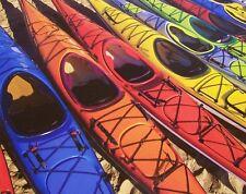 Jigsaw puzzle Maritime Nautical Colorful Kayaks 1000 piece NIB