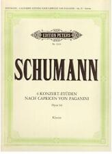 Schumann: Sei Studi Da Concerto op.10 Per Pianoforte -  Peters