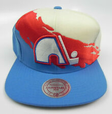 QUEBEC NORDIQUES NHL MITCHELL & NESS PAINTBRUSH VTG SNAPBACK CAP HAT NEW! RARE!