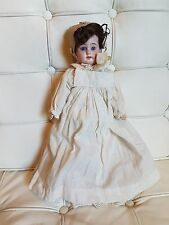 ANTIQUE BISQUE HEADED DOLL, POSSIBLY ARMAND MARSEILLE??......BLUE GLASS EYES...L