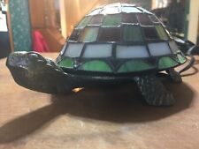 Tiffany-style Stained Glass Turtle Tortoise Table Accent Lamp Night Light